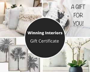 Winning Gift Certificates